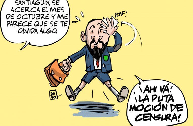 Santiago, llega octubre y nos preguntamos ¿Donde está la moción de censura?